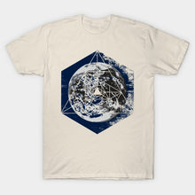 Men t-shirt Planet Earth Geometry Abstract tshirt Women t shirt(China)