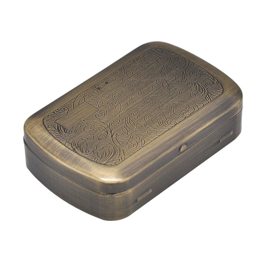 Portable Metal Cigarette Case, Metal Smoking Box Humidor Tobacco Box Cigarette Case Grey