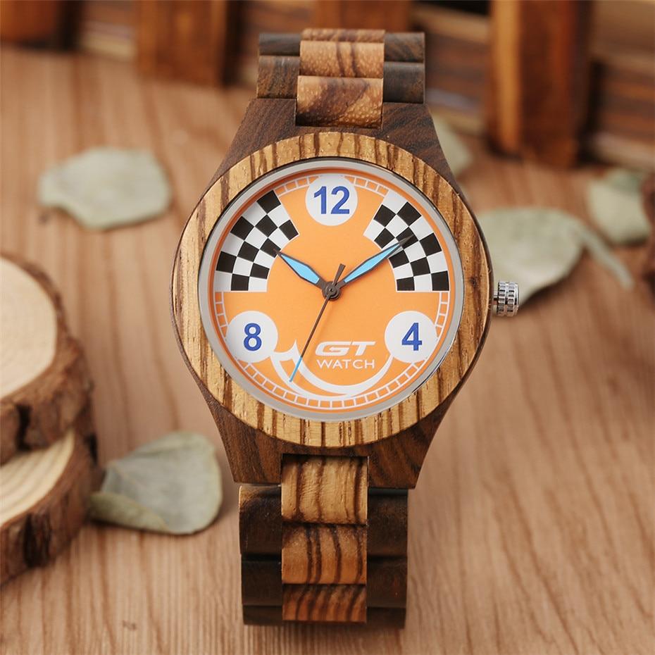 Wood Watch Quartz Sport Men's Luxury Masculino Bangle Timepiece Gifts Natural Reloj