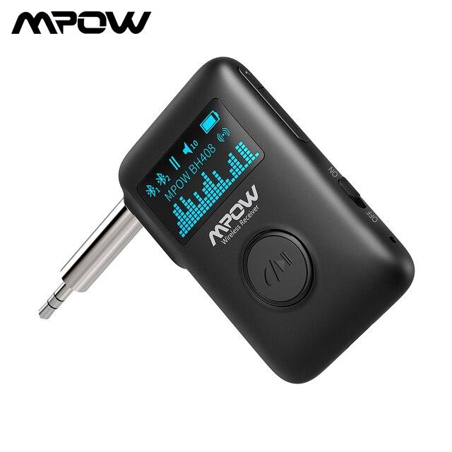 Mpow Bluetooth 5.0 Adattatore Wireless Ricevitore Audio Con Display OLED Musica In Streaming Adattatore 3D Surround Per Auto Aux Stereo di Casa