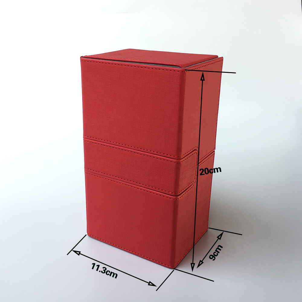 Magic Deck Box Deck Case For Trading Cards, Board Game Card Case Card Box/Cards Container: Red Color