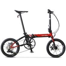 Dahon k3 mais dobrável bicicleta kaa693 quadro da liga de alumínio 16 polegada 9 velocidade freio a disco fiação interna portátil luz ciclismo