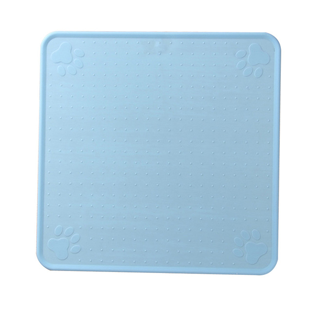 83 Blue-48*27cm Pet Dog Puppy Cat Feeding Mat Pad