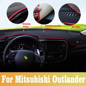 Pour Mitsubishi Outlander 2013-2019 voiture tableau de bord couverture tableau de bord tapis de bord tapis de bord couverture tapis auto soleil dashMat voiture accessoires