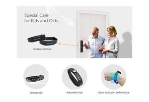 Image 4 - Tuya טביעות אצבע חכם דלת מנעול Wifi קוד RFID כרטיס מפתח דיגיטלי אלקטרוני מנעול עם פעמון בריח עבור אבטחה בבית