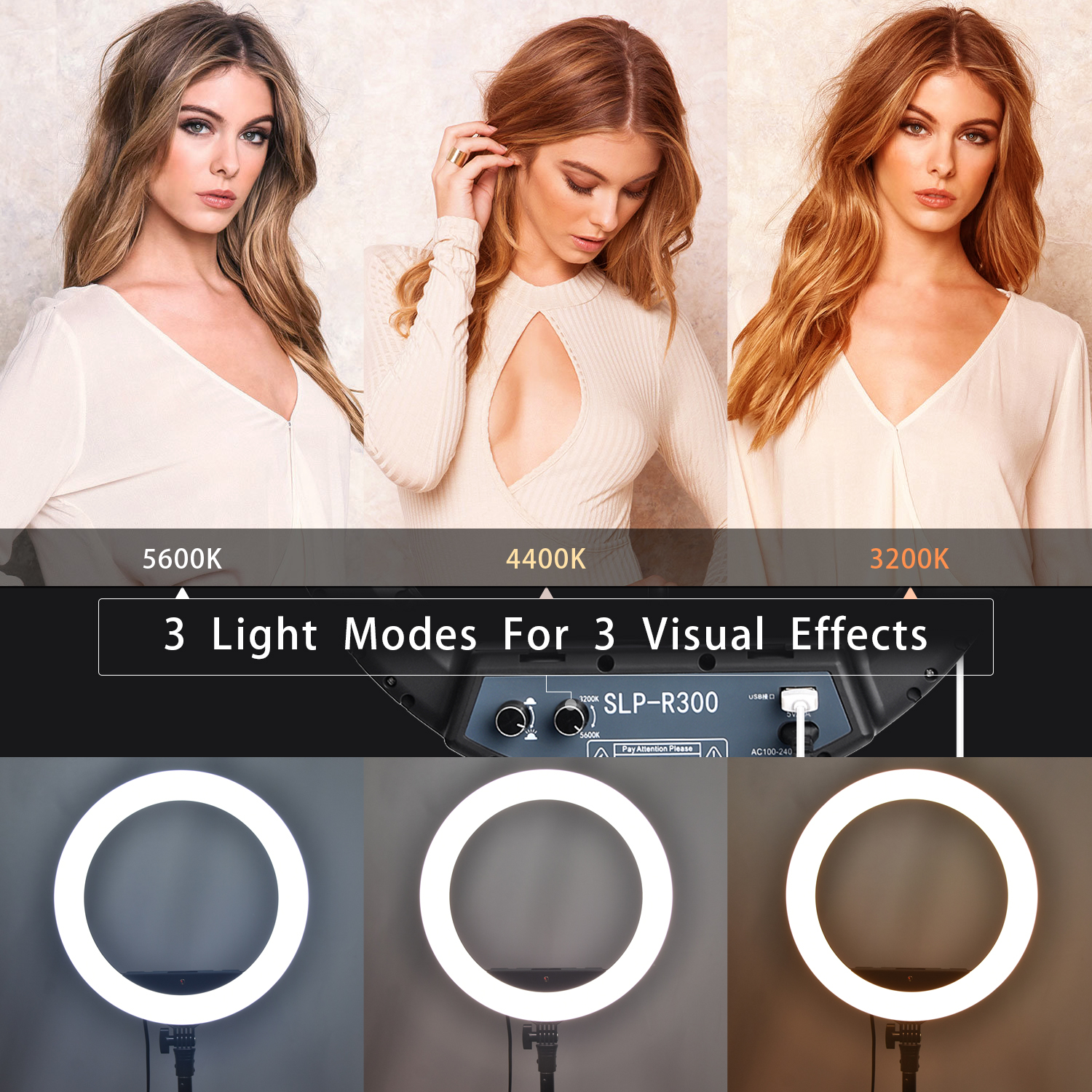 Ha3dd7af4f55642dbaff48fa6cbb21c943 fosoto LED Ring Light Selfie Photo Photography Lighting Ringlight lamp With Tripod Stand For Photo Studio Makeup Video Live Show