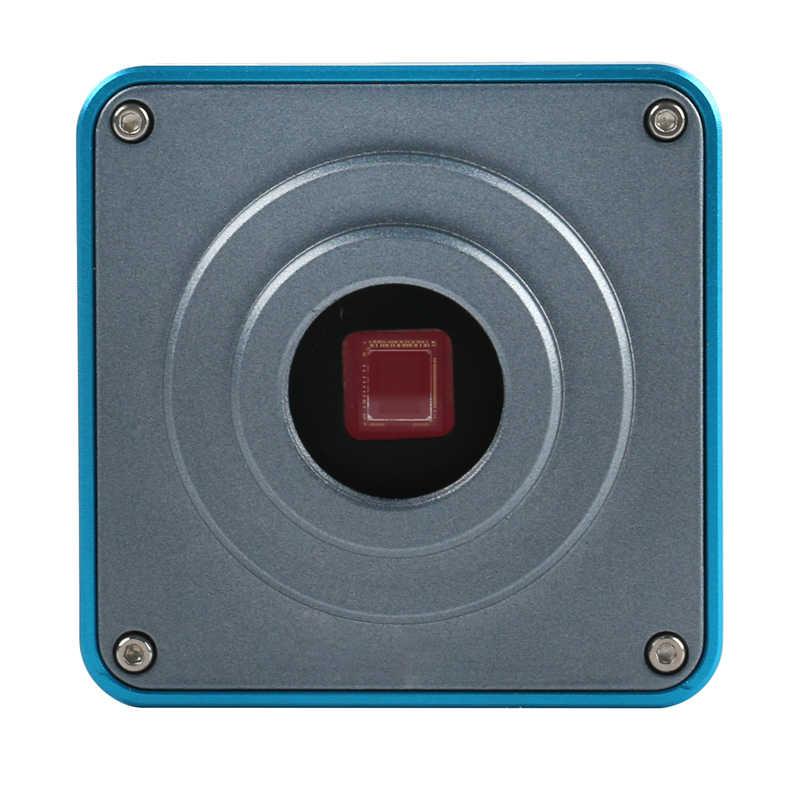 2019 Full HD 1080P 60FPS 2K 3800W 38MP HDMI USB промышленный электронный цифровой видео микроскоп камера + 100X зум C-mount объектив + 56 светодиодный кольцевой свет для лабораторной печатной платы IC cpu пайки