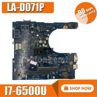 CN 0RV4XN RV4XN I7 6500U FOR Dell INSPIRON 15 5559 Laptop Motherboard AAL15 LA D071P REV:1.0(A00) mainboard Motherboards    -