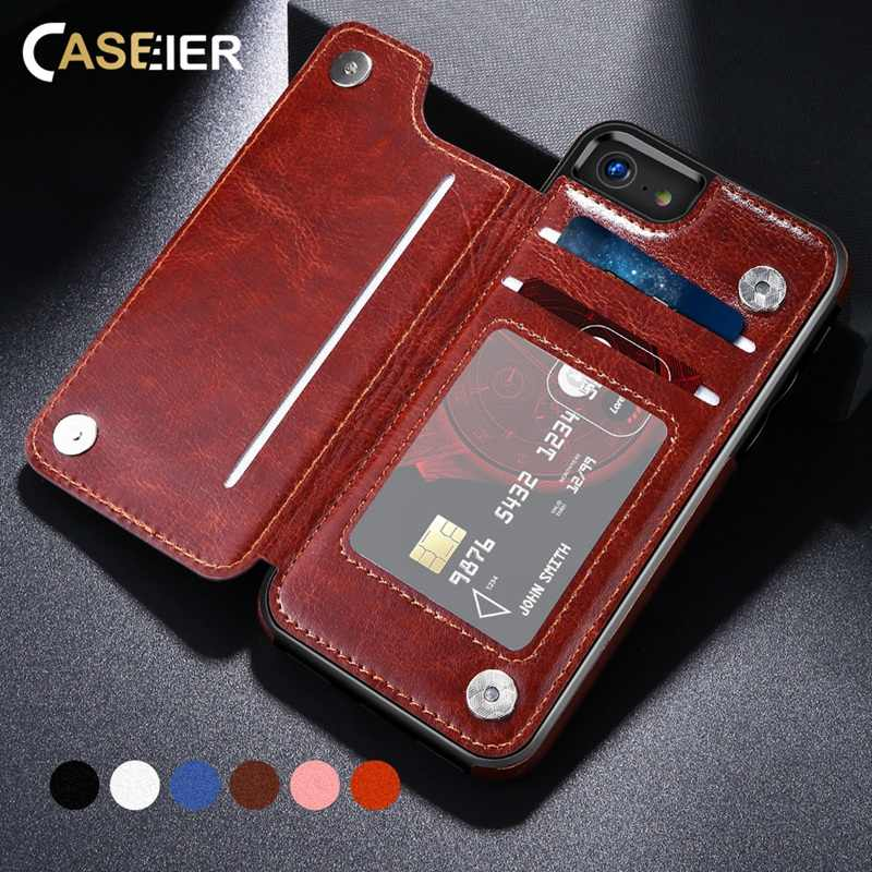 CASEIER Phone Case For iPhone X XS MAX 8 7 Business Leather Case For iPhone XS Max XR 8 7 6 6s Funda Capinha Phone Accessories
