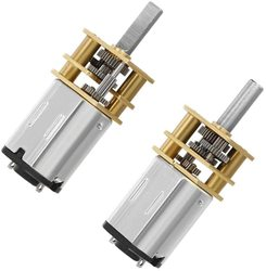 2PCS/lot Mini Speed Reduction Motor DIY Engine Toys DC 6V 100RPM with Metal Gearbox Replacement N 20 for RC Car, Robot Model