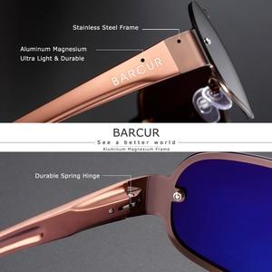 Image 3 - BARCUR אלומיניום מגנזיום גברים של משקפי שמש טייס נהיגה מקוטבות צרות עדשה איש שמש זכוכית נשים Gafas דה סול גוונים
