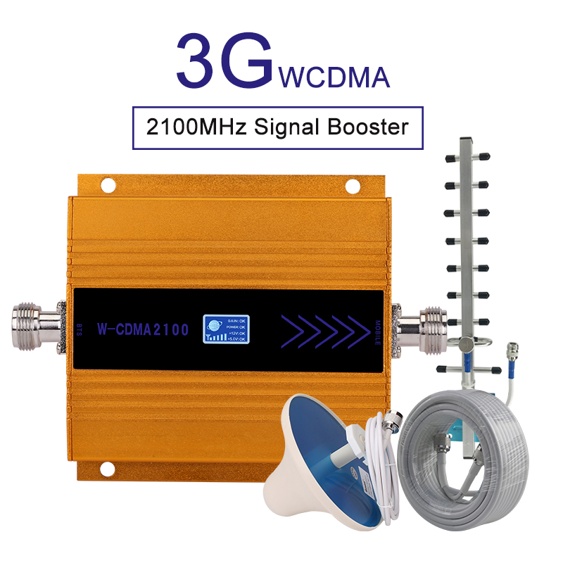 Cell Signal Repeater 3g Amplifier Signal Booster Repeater 3g Mobile Network Signal Booster cellular repeater 3g WCDMA 2100mhz B1