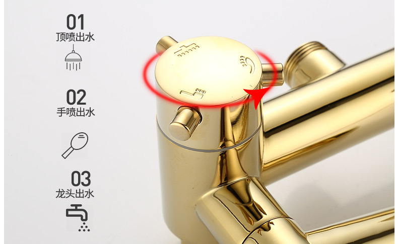 Ha3ddf7d6be0f446a8e6ebe1e86ec3f998 Luxury Shower System Head Tube Shower System Rainfall Gold Shower Faucet Set Torneira Chuveiro Bathroom Accessories Sets BK50HS