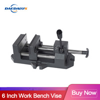 6 Inch work bench vise mini vise table vise drill press heavy table clamp vise For CNC Drilling Milling Machine