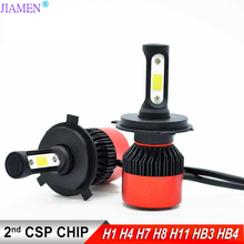 JIAMEN 4 Side Lumens CSP 72W 8000lm LED Bulb H4 H7 H11 H13 HB3 9005 HB4 9006 9004 9007 Car Headlight Auto Headlamp Light 12v