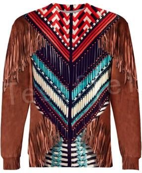 Tessffel Indian Native culture Harajuku Casual Colorful Tracksuit New Fashion Funny 3DPrint Unisex Sweatshirts Mens Womens s-4 3