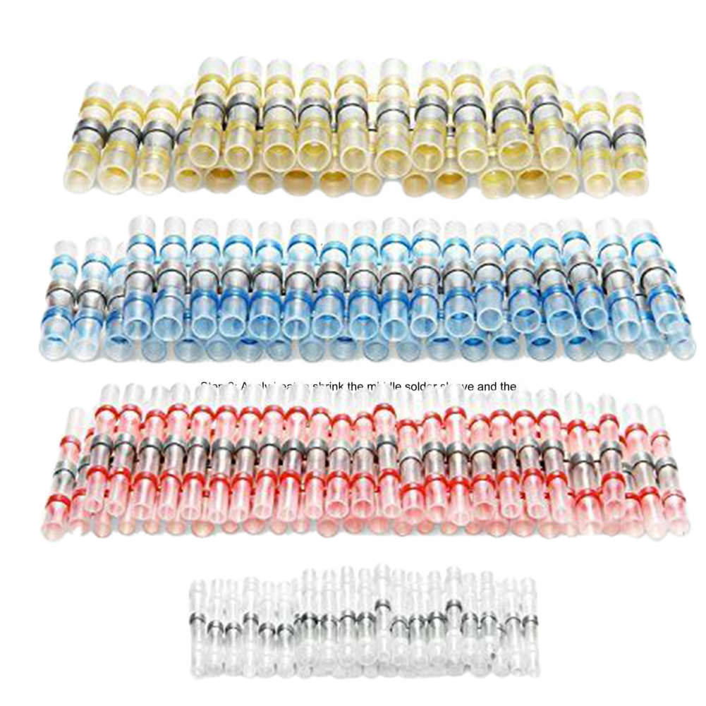 Image 3 - 120pcs Joint Wire Connector Aircraft Solder Heat Shrink Waterproof Splice Automotive Seal Electrical Terminals Insulated BoatTerminals   -