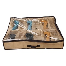New high quality 12 grid folding non-woven storage shoe box shoes bag opp packaging practical goods