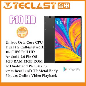 Newest Tablets P10HD 10.1 inch Android 9.0 OS Phone call 4G Network 1920x1200 SC9863A Octa Core 3GB RAM 32GB ROM Tablet PC GPS
