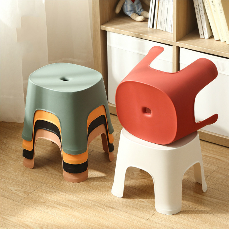 Household Stool Thick Plastic Adult Shoes Pew Bathroom Children Wash Non-slip Stepping Foot Bench Small Seat  YHJ111815
