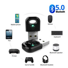 Gerçek 5.0 Bluetooth adaptörü Usb Bluetooth verici Pc bilgisayar reseptör dizüstü bilgisayar kulaklık ses yazıcı veri Dongle alıcısı