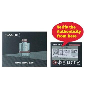 SMOK – Cigarette électronique à bobine RPM40 RBA, modèle Original, 40 Nord Pod Mesh 0,6 ohm Triple 1,2 ohm bricolage DIY, noyau S5168