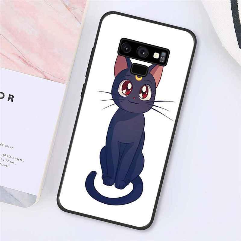 Maiyaca sailor moon etui na telefon z kotem do Samsung Galaxy A50 A70 A20 A30 Note9 8 Note7 Note10 Pro