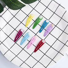 50 шт. разноцветные милые заколки для волос с клеевой подушечкой, красивые заколки для девочек, модный головной убор, подарок на день рождения