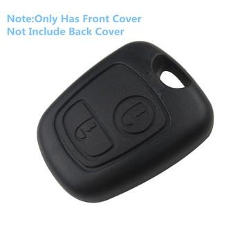Передний автомобильный чехол для ключей Fob ЗАМЕНА 2 кнопки дистанционного управления пустой чехол для Peugeot 107 206 207 306 307 407 Citroen без лезвия