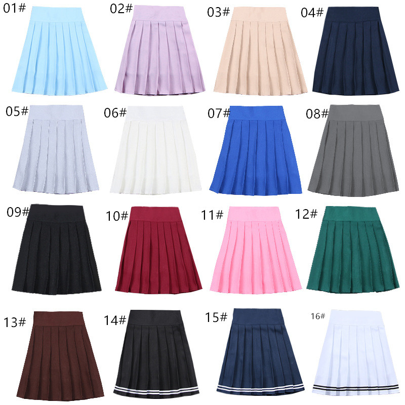 School Dresses Japanese Short Skirt Cosplay Anime Pleated Skirt Jk Uniforms Sailor Suit Short Skirts School Girl 17 Colors