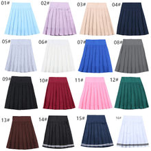 School Dresses Japanese Short Skirt Cosplay Anime Pleated Skirt Jk Uniforms Sailor Suit Short Skirts School Girl 17 Colors(China)