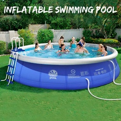 Inflatable Swimming Pool For Kids and Adults PVC Large Family Play Pool Children Bath Tub Kids Toy Summer Water Game