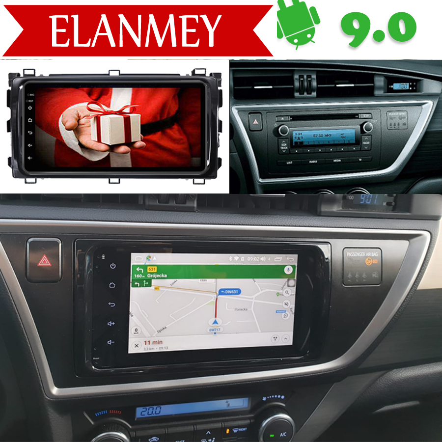 Branded Genuine Android 9.0 Car Radio For Toyota Auris 2013 2014 Car Gps Navigation Car Multimedia Vehicle Video Recorder Camera