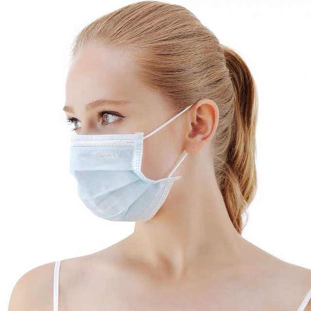 Mask Disposable Mask Face Mask Mouth Mask 3 Layer Safety Mask Meltblown Nonwoven Elastic Earloop Mask 4