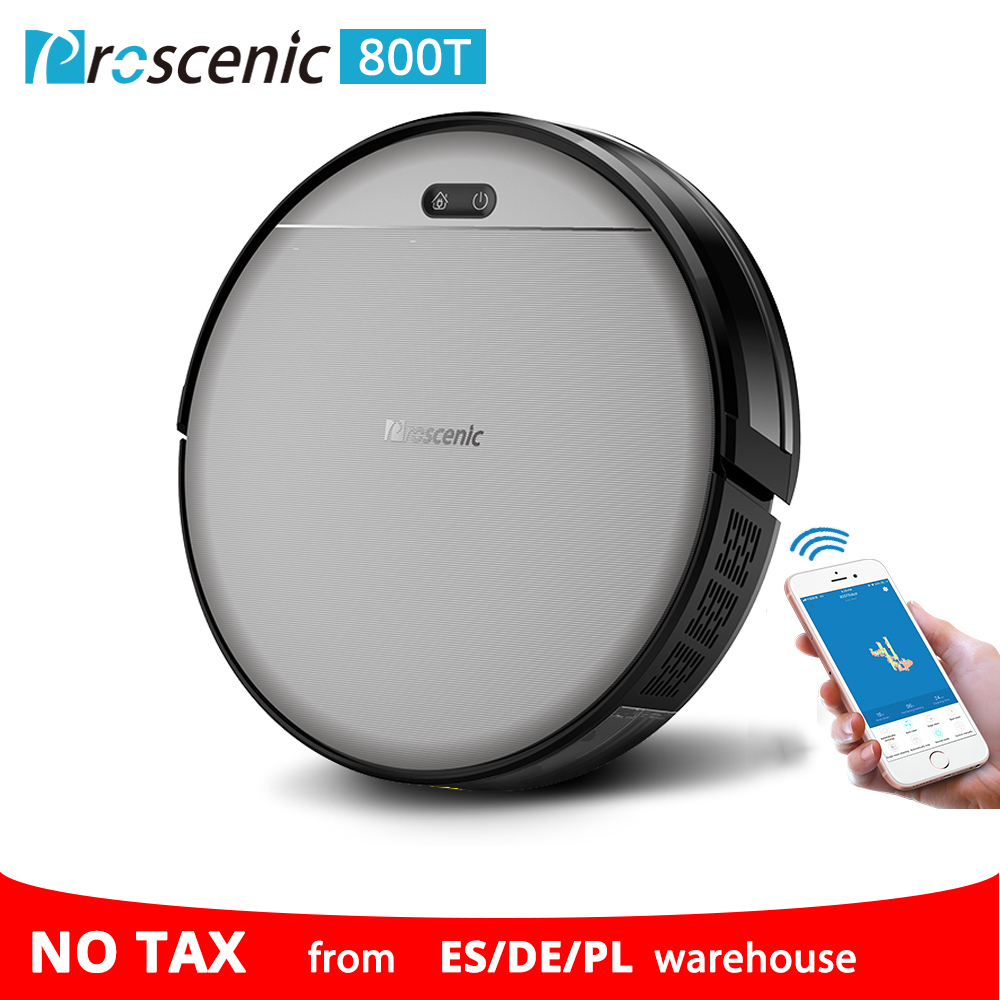 Proscenic 800T Robot Vacuum Cleaner Automatic Sweeping Dust Mopping Mobile App Remote Control Planned Robotic Proscenic 800T Robot Vacuum Cleaner Automatic Sweeping Dust Mopping Mobile App Remote Control Planned Robotic