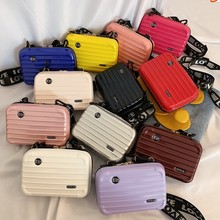 New Luxury Hand Bags Women Candy color Suitcase Shape Totes