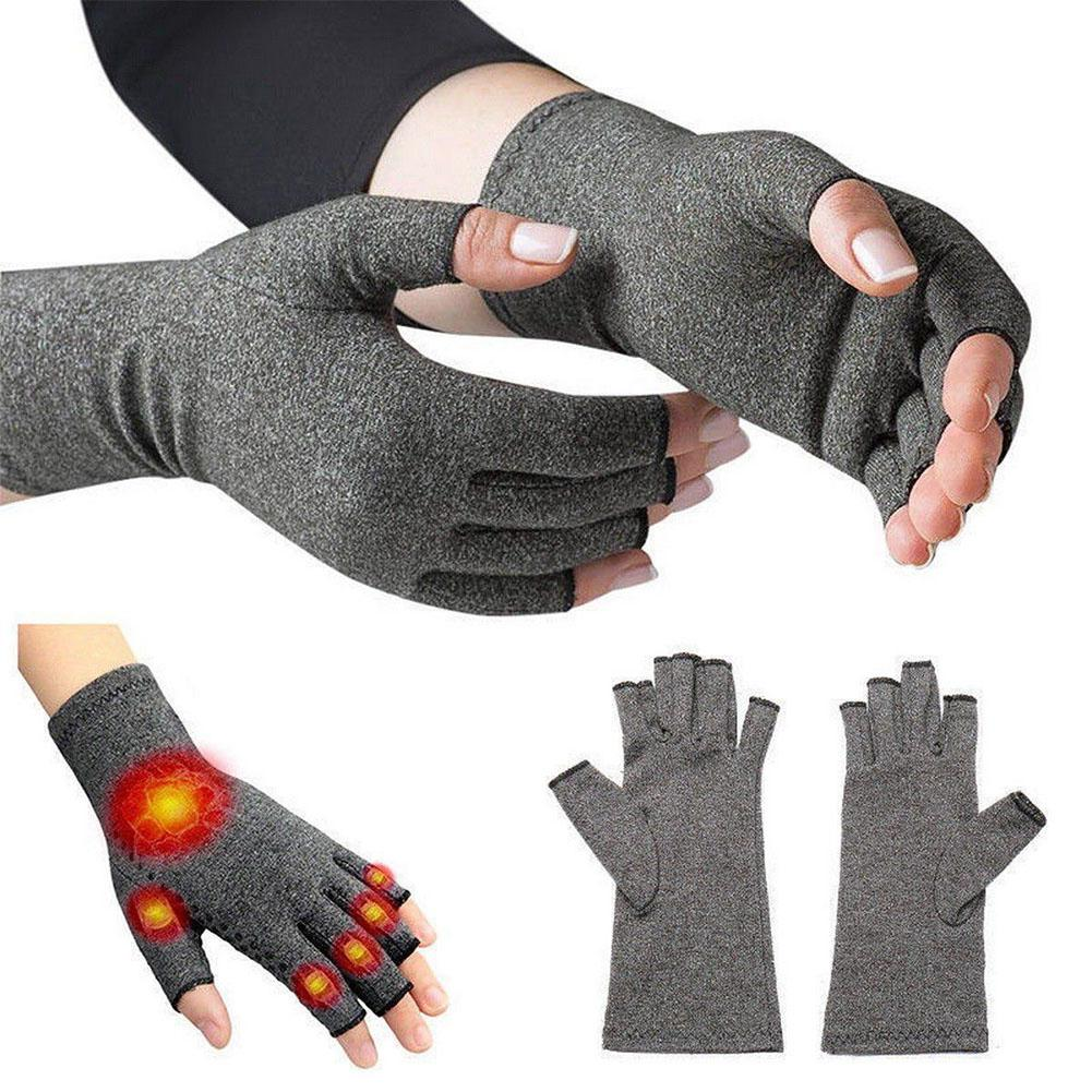 MeterMall Magnetic Anti Arthritis Health Compression Therapy Gloves Rheumatoid Hand Pain Wrist Rest Sport Safety Glove