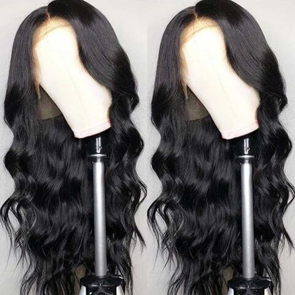 150 Density Human Hair Body Wave Wigs For Black Women Malaysian Wig Non Remy Human Hair Pre Plucked Lace Front Wig