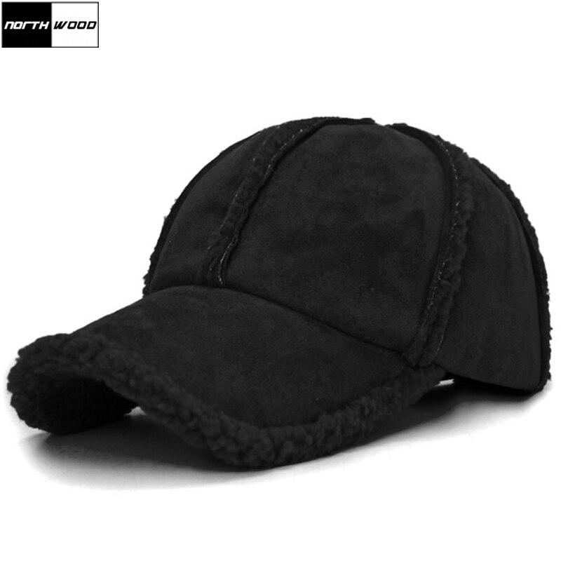 [NORTHWOOD] New Fashion Brand Winter   Baseball     Cap   Women Men Thick Solid Warm Dad Hat Casquette Femme Gorra Snapback   Cap