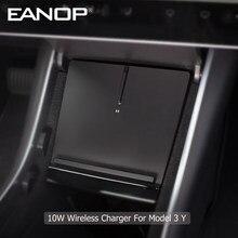 Eanop carregador sem fio suporte tipo c 5v 10w carga rápida para tesla modelo 3 y