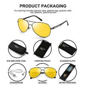 Image 2 - Очки ночного видения для мужчин и женщин, поляризационные антибликовые линзы, желтые солнцезащитные очки для вождения, ночное видение