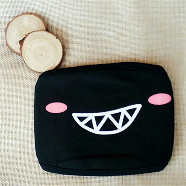 1Pcs Cute Cartoon Lovely Mouth Face Mask Unisex Cotton Mask Respirator KPOP Facial Masks Kawaii Winter Windproof Reusable Mask 3