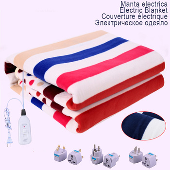 Electric Heated Blanket 220v Plush Thicker Thermostat Throw Blanket Double Body Warmer Bed Mattress Electric Heated Carpets Mat