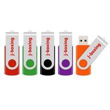 USB флеш накопитель J boxing, металлический поворотный флеш накопитель, 1 ГБ, 2 ГБ, 4 ГБ, 8 ГБ, 16 ГБ, 32 ГБ, разноцветный для ПК, Mac, планшета 5