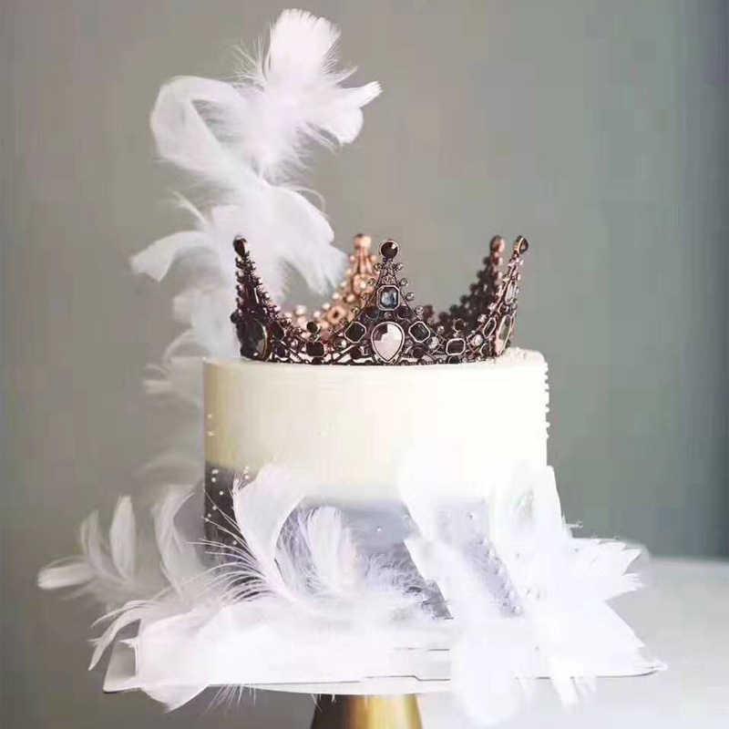 FEATHER เค้ก Topper สำหรับงานแต่งงานวันเกิดเค้กตกแต่งเค้กเบเกอรี่ขนมหวานวันวาเลนไทน์เค้กอุปกรณ์ตกแต่ง