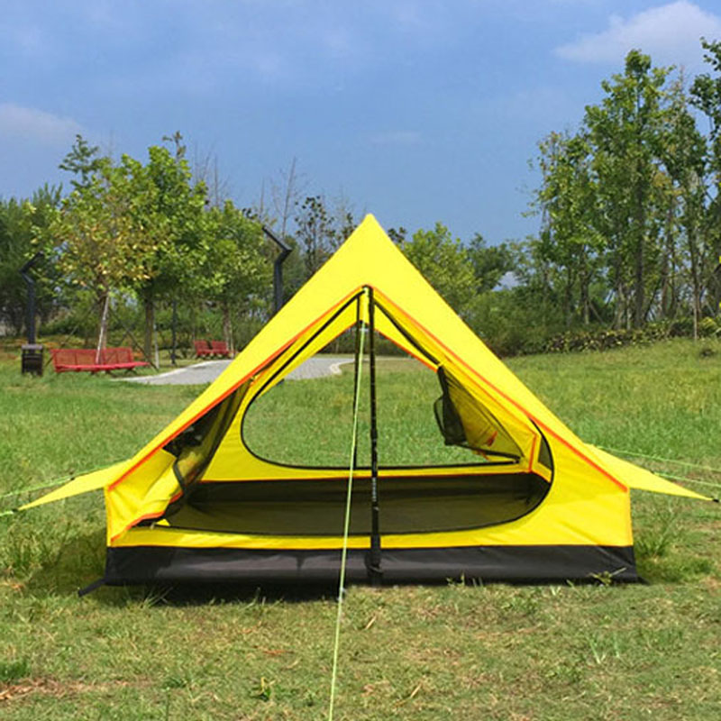 1-2 Person Ultralight Outdoor Camping Teepee  Pyramid Tent Large Rodless Tent Backpacking Hiking Tents
