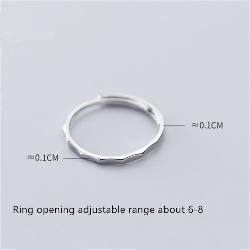 Wantme 新到着ミニマリスト不均一なインデックス指薄いリング womem 本物の 100% 925 スターリングシルバーパーティーウェディングジュエリーギフト