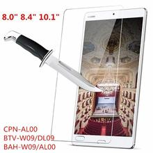 Tempered Glass Screen Protector For Huawei MediaPad M3 8.0 8.4 10.1 Lite 10 CPN-AL00 BTV-W09 L09 BAH-W09 Tablet Protective Film tempered glass for huawei mediapad m3 lite 10 bah w09 bah al00 10 1 inch 9h ultra thin tablet protective toughened glass film