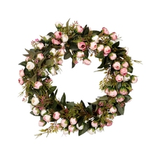 Garland Wreath Window-Decoration Christmas-Flower Home-Wall-Door with Elegant Best