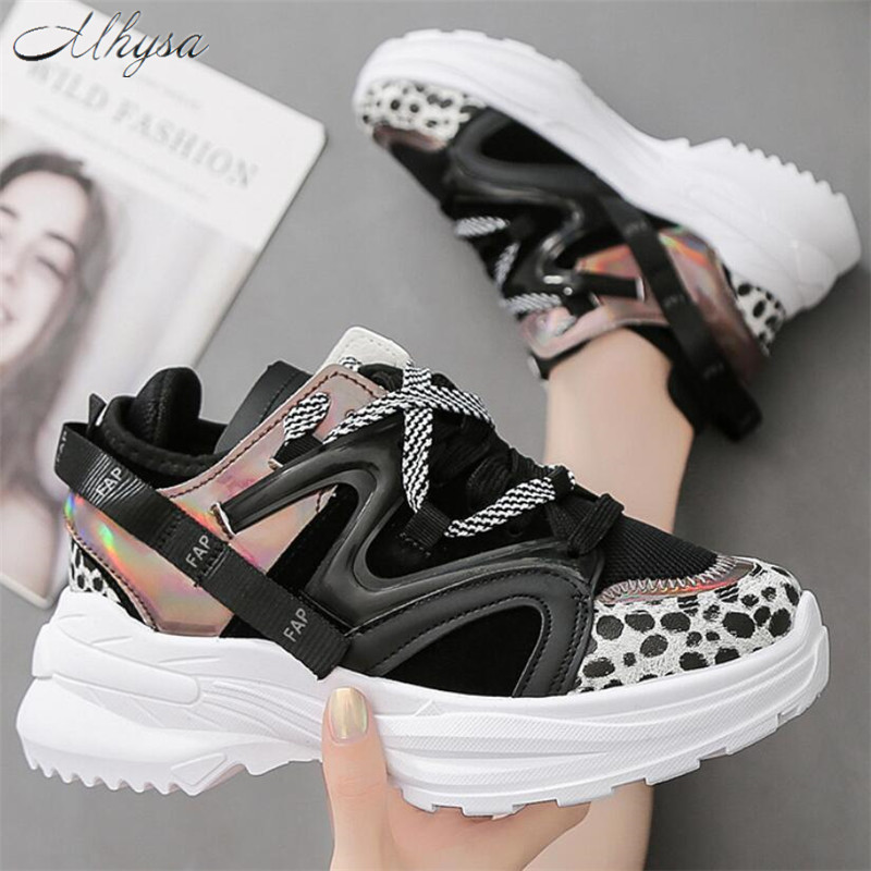 Mhysa 2020 Spring Chunky Sneakers Women Fashion Platform Shoes Vulcanize Shoes Women Casual Krassovki Female Trainers Dad Shoes